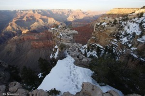 Grand Canyon Snow and Sunset