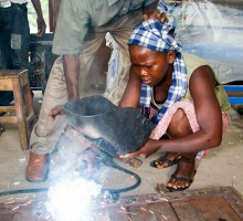 Aminata Conteh, 18, metal worker,  Makeni, Sierra Leone.Photo © Nile Sprague